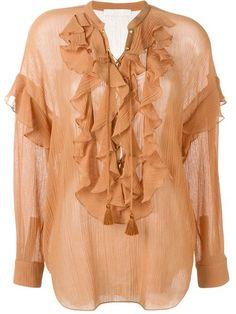 CHLOÉ Ruffle Shirt. #chloé #cloth #shirt