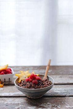 Mexican Chocolate Zoats | Nutrition Stripped, chocolate oatmeal, porridge, zucchini oatmeal