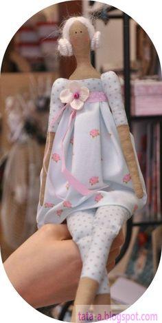 lovely tilda doll: flower garden angel / tilda bebeklere bayılıyoruz.