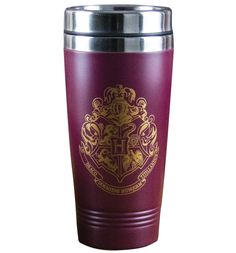 HARRY Potter Hogwarts Crest Travel Mug If your adventures top those of Harry Potter and co, then we suggest you get this awesome travel mug, perfect for perking up any journey. Buying for a Harry Potter fan? Theyll love you forever. http://www.MightGet.com/may-2017-1/harry-potter-hogwarts-crest-travel-mug.asp