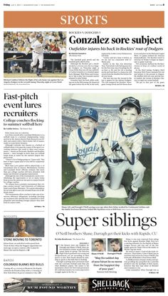 Friday, July 5, 2013 Denver Post sports cover.