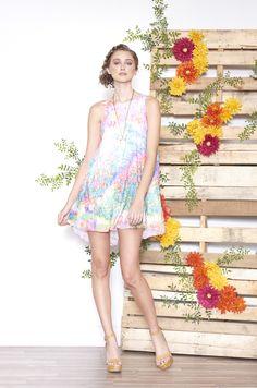 ASKARI Dakota Dress   Chiffon a-line dress in Fairy print