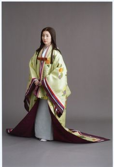 The Kimono Gallery Heian Era, Heian Period, Historical Costume, Historical Clothing, Costumes Japan, Western Costumes, Kimono Design, Japanese Outfits, Japanese Clothing