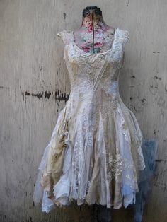 Gorgeous custom made dress for Courtney Love