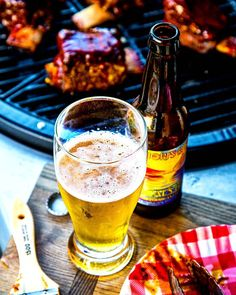 Ice cold craft beers and mouthwatering barbecue on a gorgeous fall evening in Pure Michigan. Rack upon glorious rack of finger-licking smoked beef short ribs prepared to tender succulent perfection over a smoldering inferno of charcoal and fruitwoods. Paired with my favorite light lager. Cheers and long live the long weekend!! . #Grill #Grilling #BBQ #Barbecue #GrillPorn #FoodPorn #Ribs #Carne #Churrasco #Food #FoodPhotography #Foodstagram #InstaFood #Meat #MeatLover #MeatPorn #Paleo #Beer #Cerv Smoked Beef Short Ribs, Beer Magazine, Meat Lovers, Long Live, Long Weekend, Craft Beer, Barbecue, Food Photography, Alcoholic Drinks