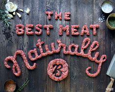 Succulent food lettering by Marmalade Bleue Food Typography, Creative Typography, Typography Letters, Typography Poster, Type Design, Food Design, Graphic Design, Set Design, Best Meat