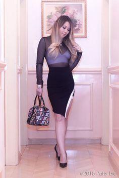 50c8873f3 Look da Noite: Transparência com Top – Patty Lye - Blusa de tule preto  transparente
