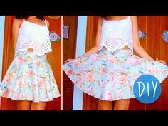 DIY skater/circle skirt in 3 steps! (No zipper/no elastic band) - All