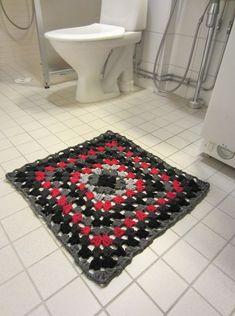 Virkattu matto neliö