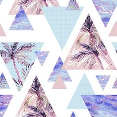 Abstract summer geometric seamless pattern