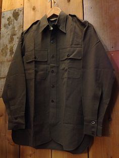 40's U.S.Military L/S Officer Shirt Size:About S Price:9980yen+TAX