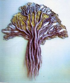 Anna Kubinyi, Thousand Year Old Tree, textile art..