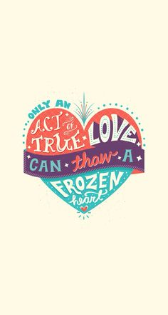 Tap image for more Disney Frozen iPhone wallpapers! True Love can Thaw a Frozen Heart - @mobile9 | iPhone 5/5S, iPhone 6 , iPhone 6 Plus backgrounds