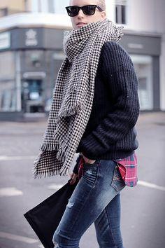 #houndstooth #plaid #streetstyle #fashion