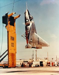 The Ryan X-13 Vertijet (company designation Model 69) was an experimental Vertical Take-Off and Landing aircraft flown in the United States in the 1950s. The main objective of the project was to demonstrate the ability of a pure jet to vertically takeoff, hover, transition to horizontal forward flight, and vertically land.