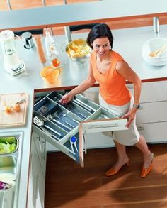 Unique Custom Made Kitchens - Top Edge Kitchens Nice way to recover lost space.