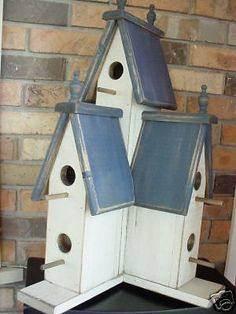 Blue Victorian Birdhouse,25 Tall,Americana, Wooden Creations,US-Southeast
