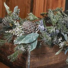 Artificial Pine, Pinecones and Berry Garland