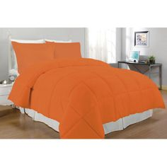Inovatex,LLC Double Stitched Comforter Set - Size: Twin, Color: Coral