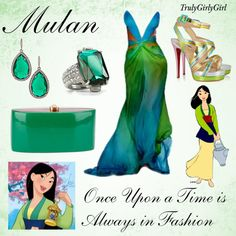 Disney Style: Mulan (2), created by trulygirlygirl on Polyvore