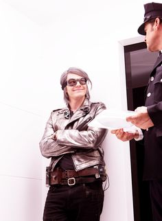 Evan Peters as Quicksilver! He's smiling! YAY! all fangirls died.