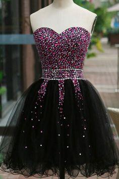 Tulle Homecoming Dress#TulleHomecomingDress Short Prom Dresses#ShortPromDresses Charming Prom Dresses#CharmingPromDresses Beading Prom Dresses#BeadingPromDresses