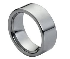 Free Engraving - 9mm Tungsten Carbide High Polish Classic Pipe Cut Wedding Band Ring For Men Or Ladies Free Laser Engraving Tungsten Rings http://www.amazon.com/dp/B016R1FWBW/ref=cm_sw_r_pi_dp_z8szwb18HHS1T