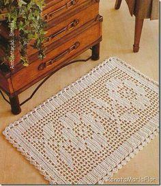 Tapete Crochet Filet