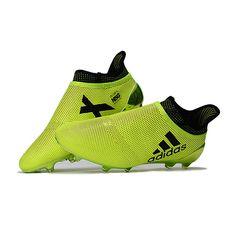 アディダス サッカースパイク X 17+ Purechaos FG イエローグリーン - サッカーユニフォーム専門店|NBA・MLB・NFL|スポーツ用品通販