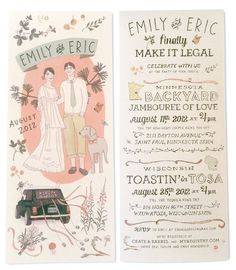 hand illustrated invites