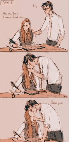 Image about love in Harry Potter by Karma on We Heart It Harry Potter World, Memes Do Harry Potter, Arte Do Harry Potter, Theme Harry Potter, Harry James Potter, Harry Potter Ships, Harry Potter Fandom, Harry Potter Universal, Lilly And James Potter