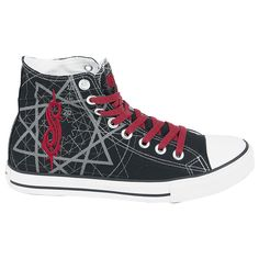 I want to be buried with theses shoes. Fuck yes they will be mine o(>. Cool Converse, Converse Men, Converse All Star, Band Outfits, Emo Outfits, All Stars, Aesthetic Grunge Outfit, Badass Outfit, Slipknot