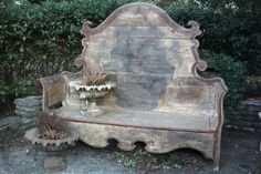 Cool! Made from an antique bed frame... beautiful. ..