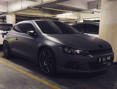 vw scirocco matte grey on oz supertourismo gunmetal grey with toyo tires T1sport