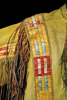 Quilled Northern Plains Mens Warrior Shirt : Lot 235