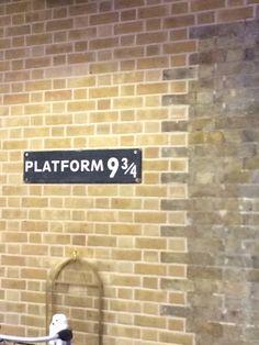 Platform nine and three quarters, kings Cross, London