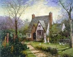 The Cottage - by Thomas Kinkade (When he painted under the name of Robert Girrard) (63 pieces)