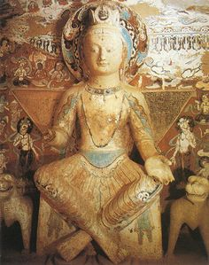(By Tsem Rinpoche) The Mogao Caves of Dunhuang, China has been a treasure house of art, spanning over years. In each and every one of its 492 Buddhi. Outdoor Sculpture, Sculpture Art, Sculptures, Buddha Figures, Dunhuang, Buddhist Art, Silk Road, 16th Century, Aesthetic Art