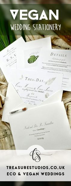 We're an entirely Vegan & Eco Friendly Wedding Stationery studio. Our Calligraphy services and Handmade Recyclable and Biodegradable Wedding Stationery pieces can now be ordered online. Services range from unique heirloom Wedding sets to budget sets Wedding Invitation Sets, Wedding Sets, Trendy Wedding, Wedding Stationery, Rustic Wedding, Invite, Dream Wedding, Beaded Wedding Gowns, Wedding Dresses