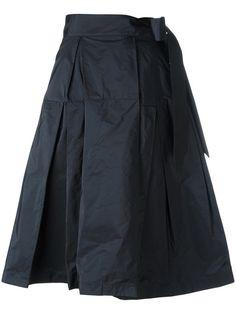 JIL SANDER Midi Full Skirt. #jilsander #cloth #skirt