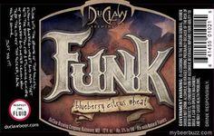 Cerveja Funk Blueberry Citrus Wheat, estilo Fruit Beer, produzida por DuClaw Brewing, Estados Unidos. 5% ABV de álcool.