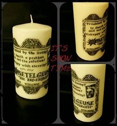 Its Showtime Beetlejuice Themed Candle @ niftywarehouse.com #NiftyWarehouse #Geek #Horror #Scary #Halloween