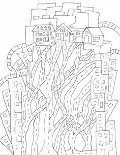 Nombre: Serie. Cuento de fillide (Italo Calvino) Tamaño: hoja carta Técnica: tinta del esfero de Faber-Castell Año: 2015