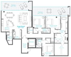 4 bedroom condo plans | breckenridge bluesky condos floor plans