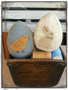 E-Pattern Punch Needle & Wool  Wooly Spring Eggs  PDF