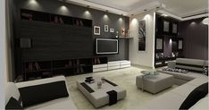 The 50+ Best Entertainment Center Ideas - Home and Design - Next Luxury Living Room Entertainment Center, Entertainment Units, Tv Cupboard Design, Simple Tv Stand, Retro Tv Stand, Easy Shelves, Modern Tv Wall Units, Basement Living Rooms, Living Room Color Schemes