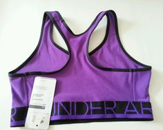 Women's Under Armour Sports Bra Mid Impact Support Sz M #UnderArmour #SportsBrasBraTops