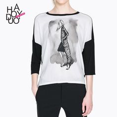>> Click to Buy << Plus Size Women Clothing T-Shirts Fashionable T Shirt Women Graphic Tee Leopard girl T-shirt bottoming Print ink Dames Kleding #Affiliate