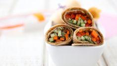 Vegetarian Pesto Wraps