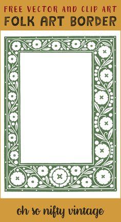 Royalty Free Images | Floral Folk Art Border - http://vintagegraphics.ohsonifty.com/royalty-free-images-floral-folk-art-border/
